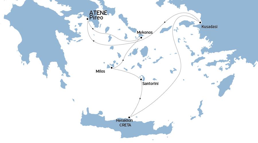 Crociera Egeo Idilliaco 7 notti da Atene Lunedì-Lunedì